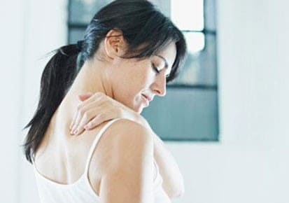 Woman with a shoulder injury