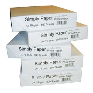 Stack of simply paper