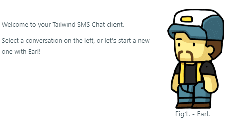 Tailwind SMS Chat Client