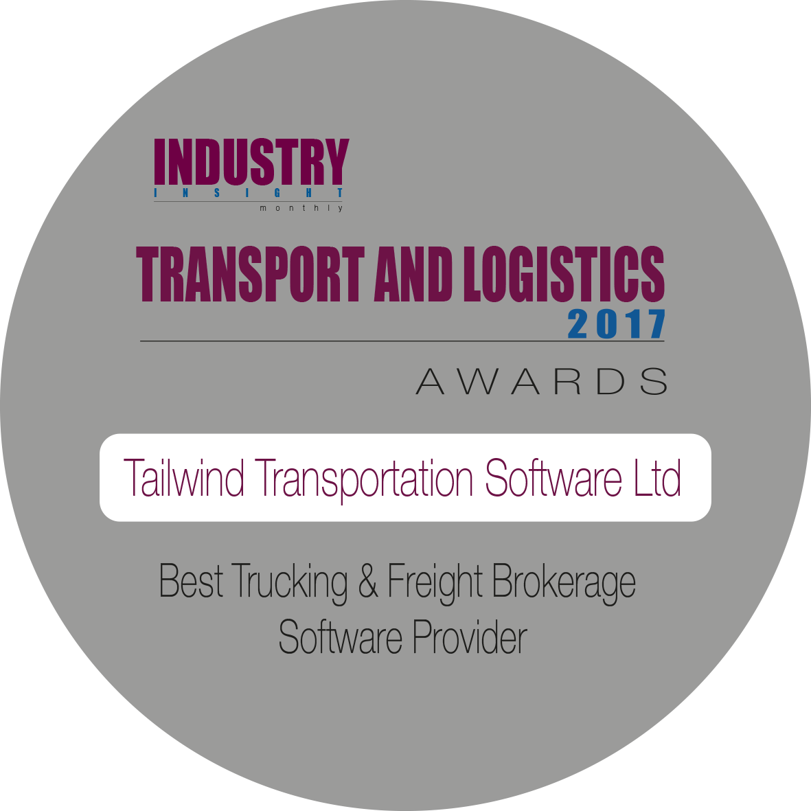2017 Transport and Logistics Award