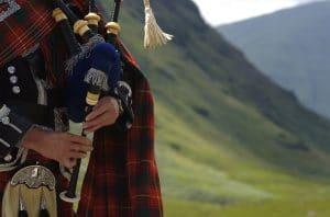 BagPiper in Scotland