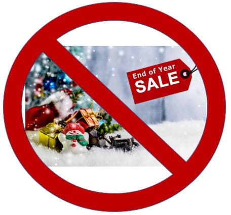 No End of Year Sale