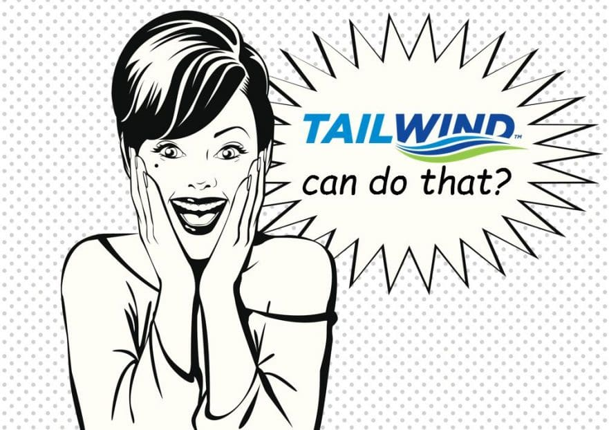 A women shocked at all the capabilities of Tailwind TMS