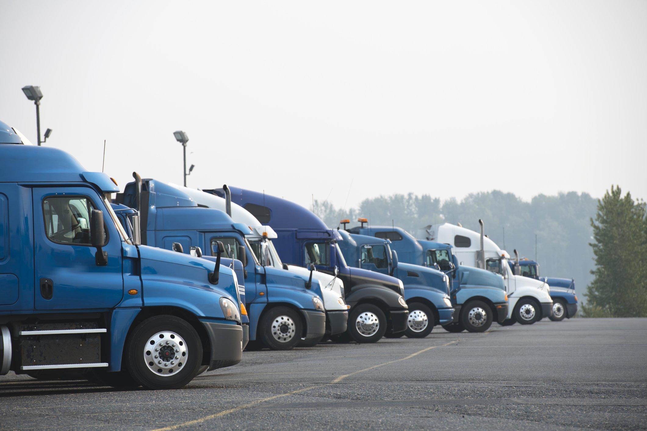 Big rig long haul semi trucks