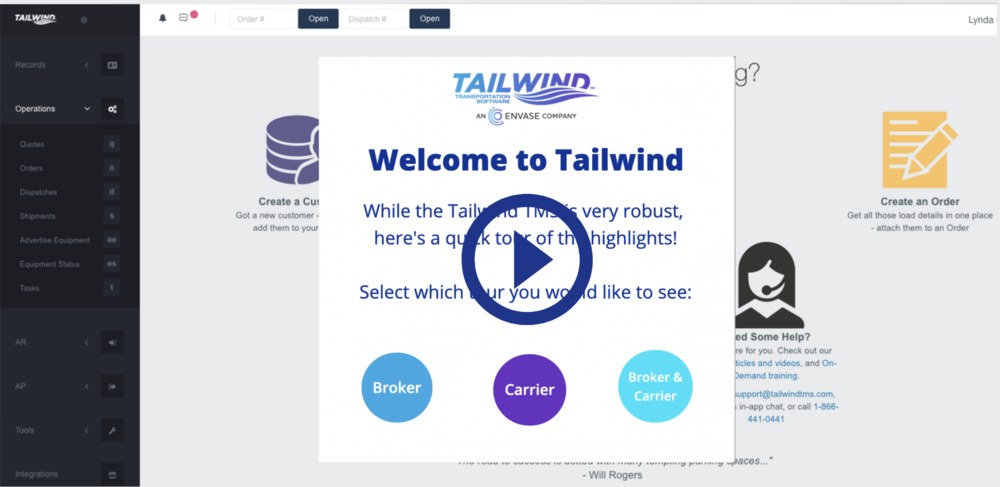 Medium Sized - Tailwind TMS Self-Guided Tour